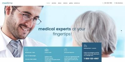 MedTime - One Page HTML Template for Medical