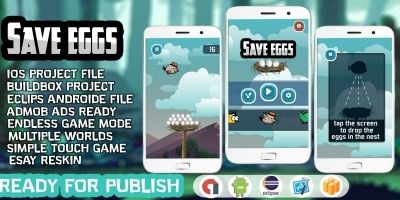 Save The Eggs - Buildbox Template