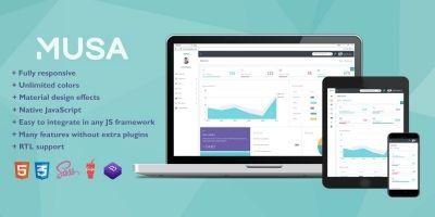 MUSA - Bootstrap 4 Sass Admin Template