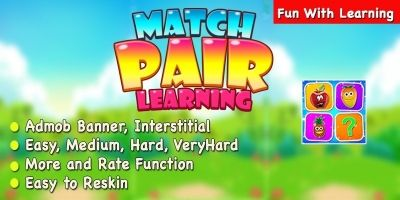 Match Pair Learning Puzzle Game - iOS App Template
