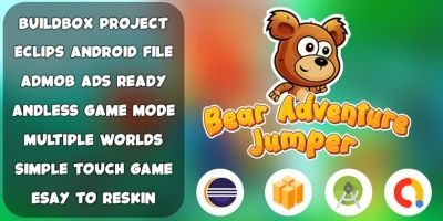 Bear Adventure Jumper  Buildbox template