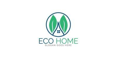 Eco Home Logo Template