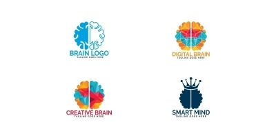 Set of Brain Logo