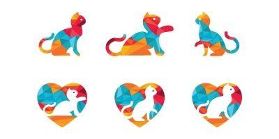 Cat Logo Set