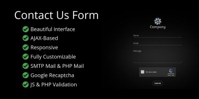 Beautiful AJAX Contact Form with Animations