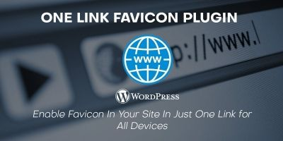 One Link Favicon WordPress Plugin