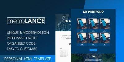 metroLance - Personal Portfolio HTML Template