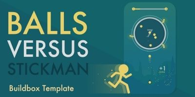 Balls vs Stickman - Buildbox Game Template