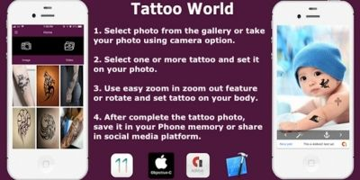 Tattoo World - iOS Source Code