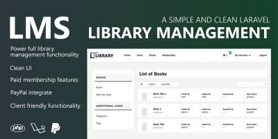 Library Management System - Laravel PHP