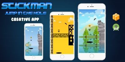 Stickman Jump In The Hole - Buildbox Template