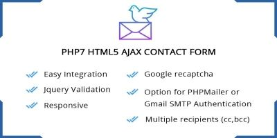 PHP7 HTML5 Ajax Contact Form