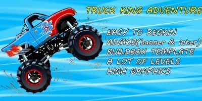 Truck King Adventure - Buildbox Game Template
