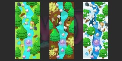 2D Game Level Maps
