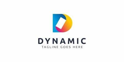 Dynamic D Letter Logo