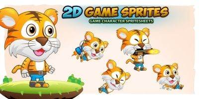Tiger Boy 2D GameSprites