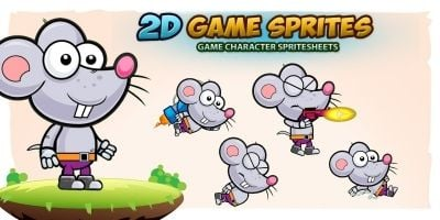 Rat 2D Game Character Sprites