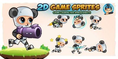 Panda Boy 2D Game Sprites