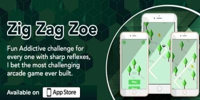 Zig Zag Zoe  - iOS Game Source Code