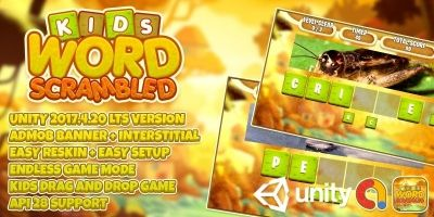 Kids Word Scrambled - Complete Unity Project