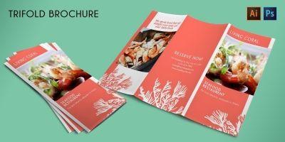 Tri-Fold Restaurent Promotion Brochure -Template
