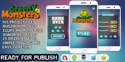 Greeny vs Monsters - Buildbox Template