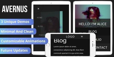Avernus - Minimal Portfolio Blog Template