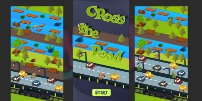 Cross The Road 2D Game Kit