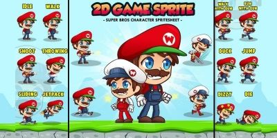 Super Wilson - 2D Game Character Sprites