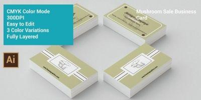Mushroom Sale Business Card