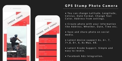 GPS Stamp Photo Camera  - iOS Source Code