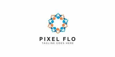 Pixel Flower Logo