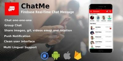 Chatme - Ionic 4 Real-Time Firebase Chat Messenger