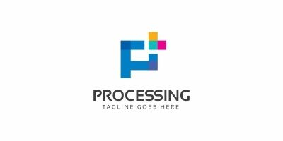 Processing P Letter Logo
