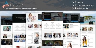 Advisor - Responsive HTML Landing Pages