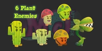 2D Characters Plant Enemies