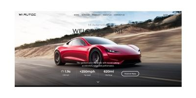Automotive Business HTML 5  Template