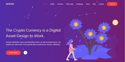 Aeshio - Crypto Currency HTML5 Template