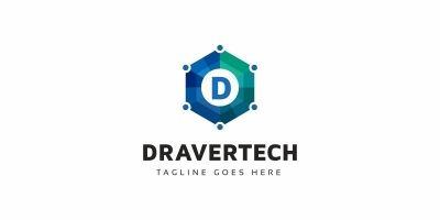 Dravertech - D Letter Logo