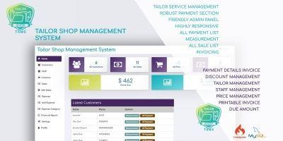 Tailor Shop Management System PHP
