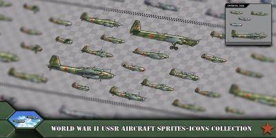 Aircraft Sprites Icons Soviet Union World War 2