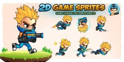 Frank 2D Game Charcter Sprites