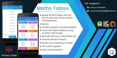 Maths Tables - Kotlin Android Studio Project