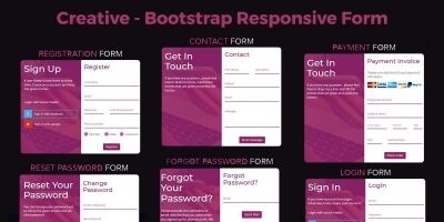 Creative - Bootstrap Responsive Popup Form