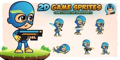 SuperJack 2D Game Sprites