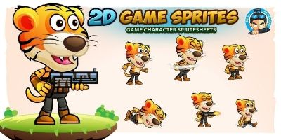 Tiger Warrior 2Game Character Sprites