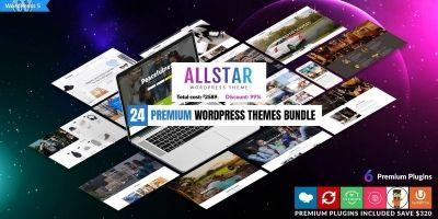 24 Premium WordPress Themes Bundle