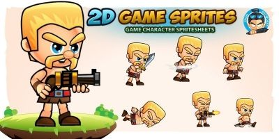 Barbarian 2D Game Character Sprites