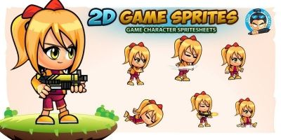 Sophie 2D Game Character Sprites