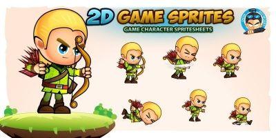 Elf 2D Game Character Sprites